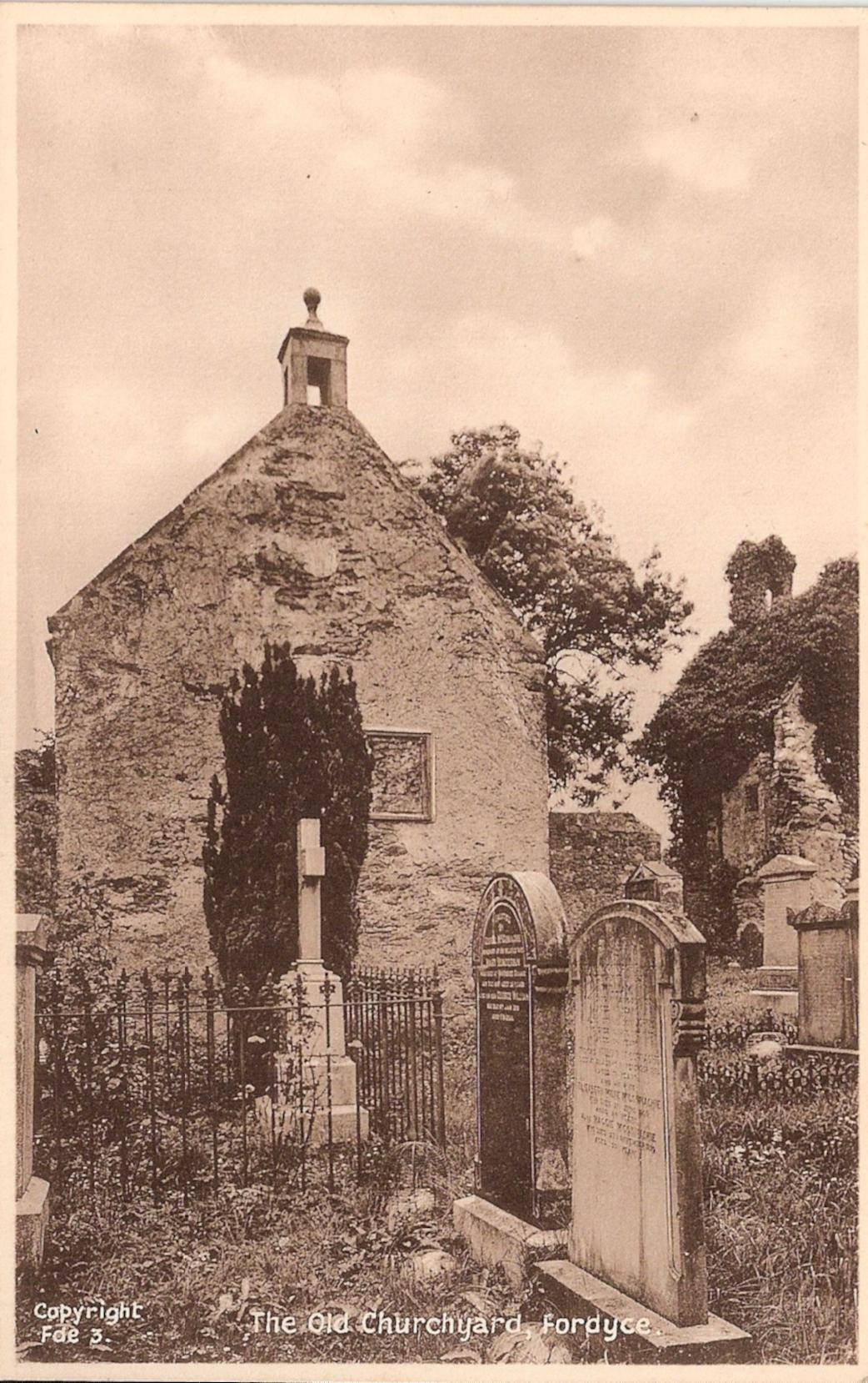 old postcards fordyce school aberdeenshire