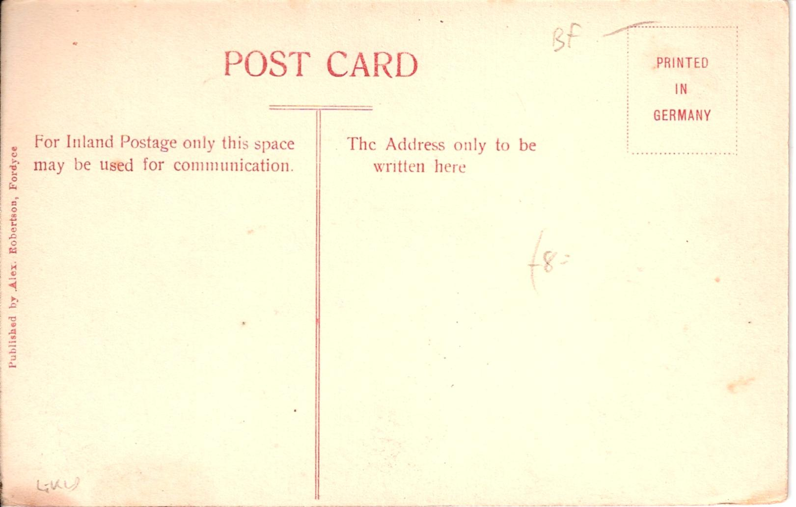 Back of Postcard